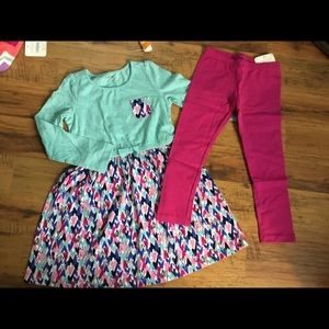 Gymboree NWT dress leggings outfit size 4T